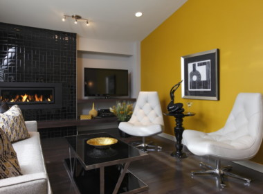 INTERIOR-great-room-w-yellow-feature-wall